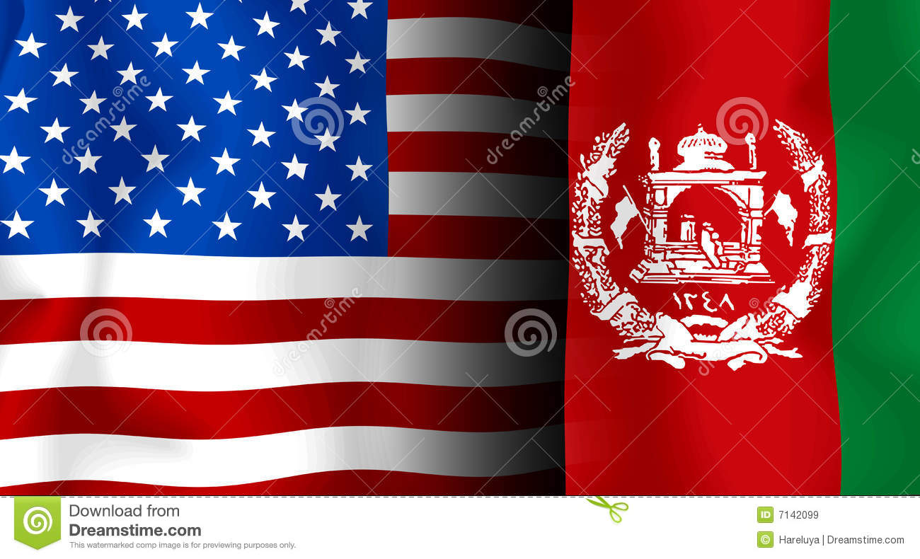 Usa - Afghanistan Flag Royalty Free Stock Images - Image ...