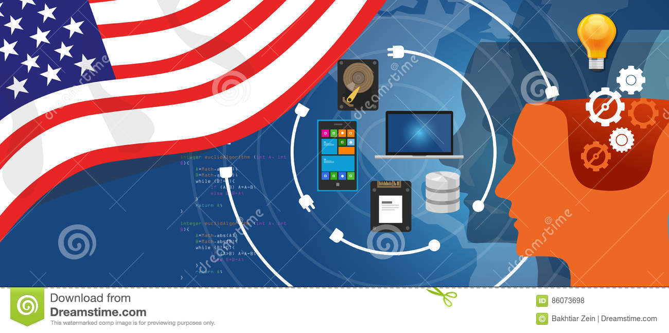 USA America IT information technology digital infrastructure connecting business data via internet network
