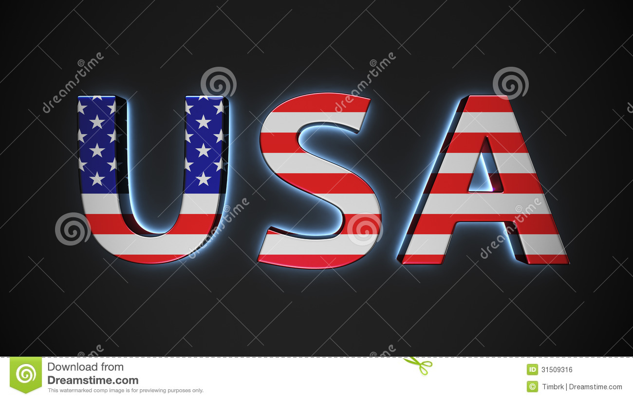 Usa With American Flag Stock Illustration Image Of
