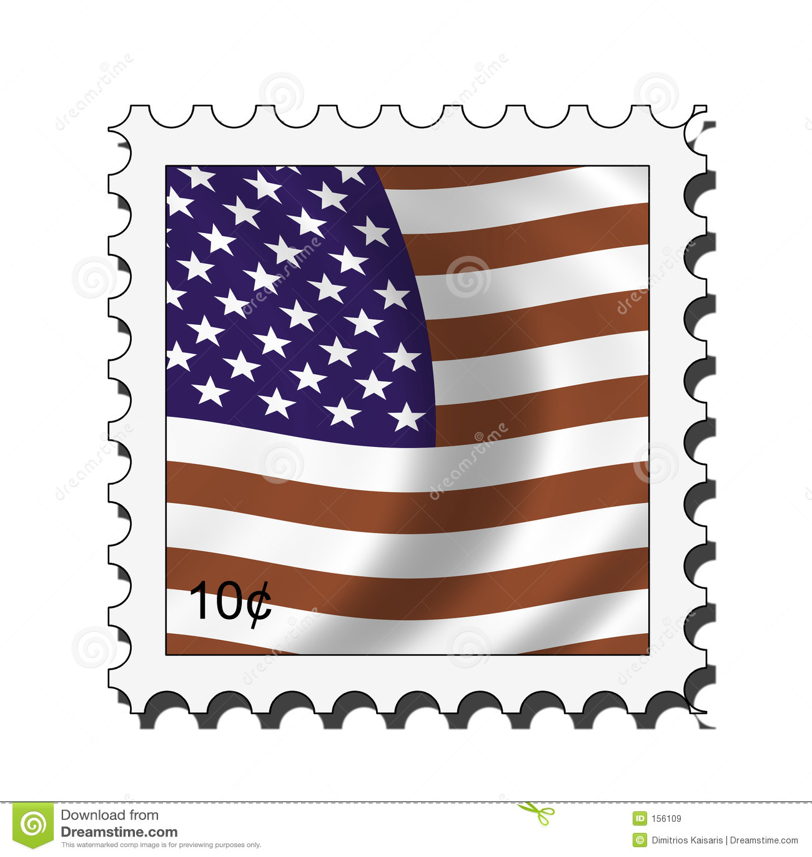 Usa american stamp
