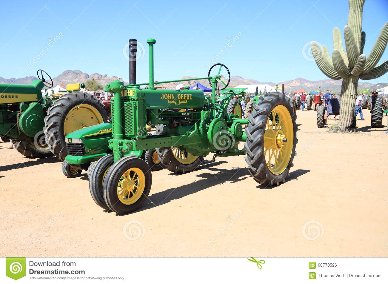 usa antique tractor john deere model   editorial photo image
