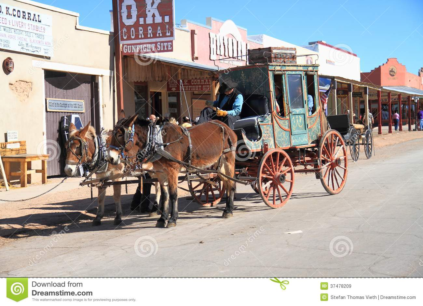 USA, Arizona/Tombstone: Old West - Stagecoach