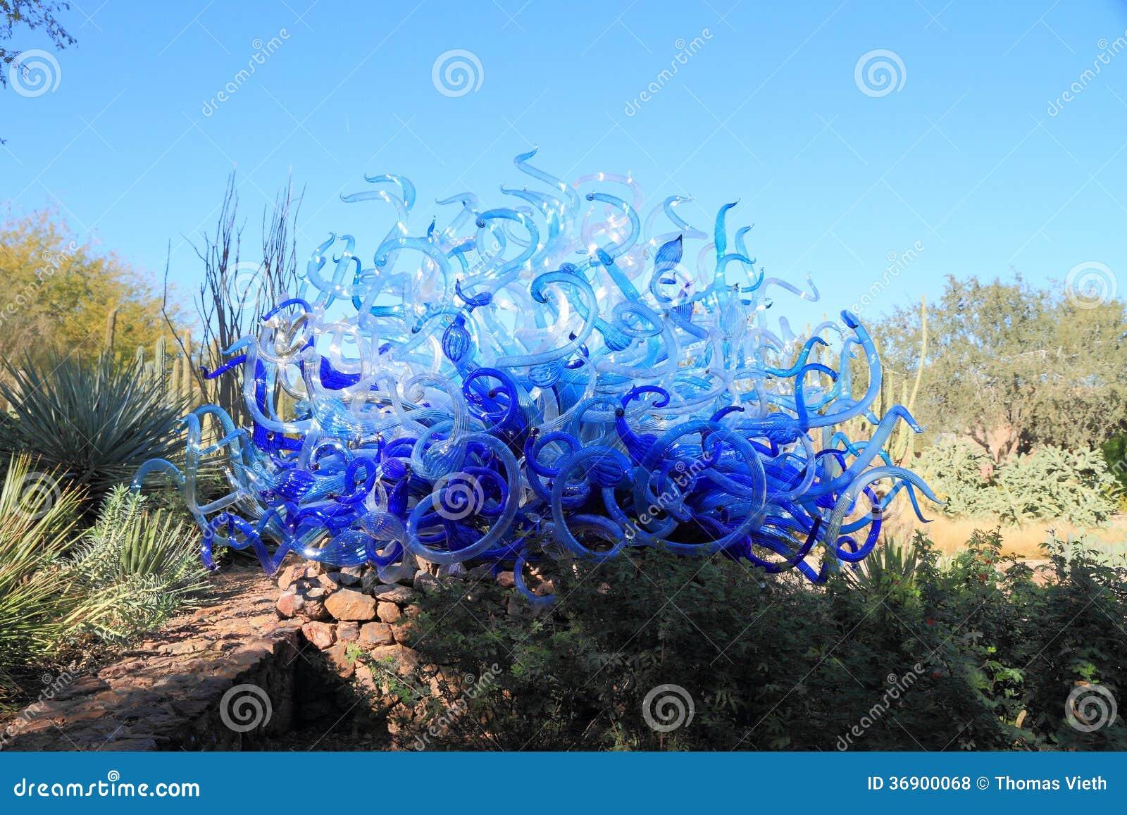 Usa Phoenix Arizona Chihuly Exhibit Blue Fiori Sun
