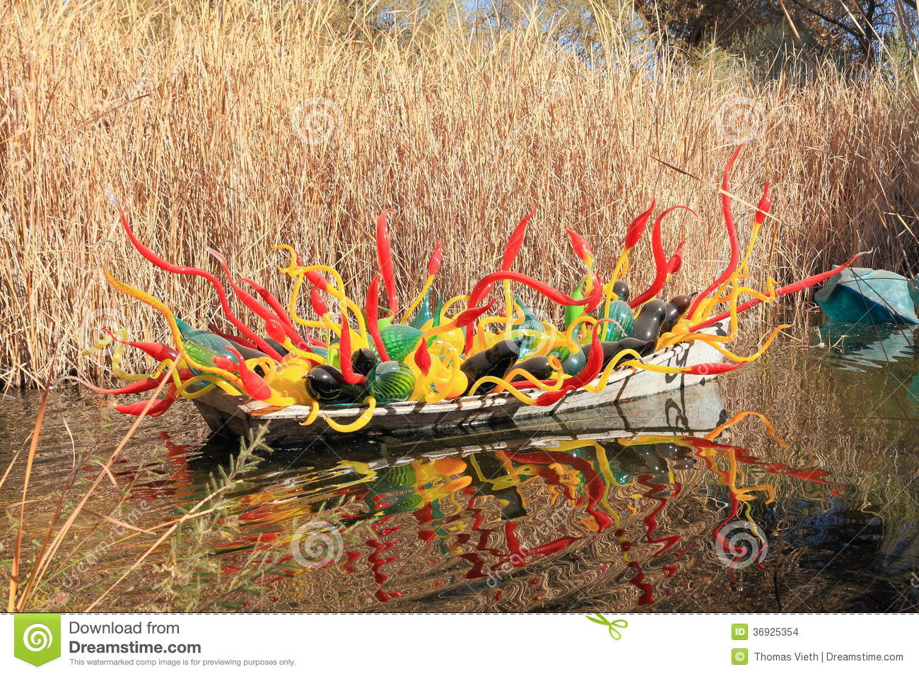 Usa Az Chihuly Exhibit Sonoran Boat 2013 Editorial Stock Image Image 36925354