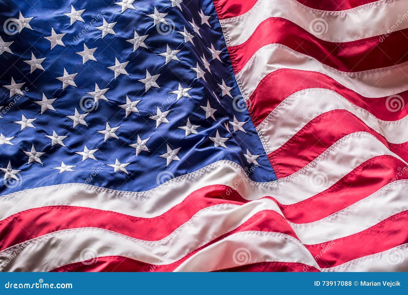 Usa bandery amerykańska flaga Flaga amerykańskiej dmuchania wiatr Fourth - 4th Lipiec