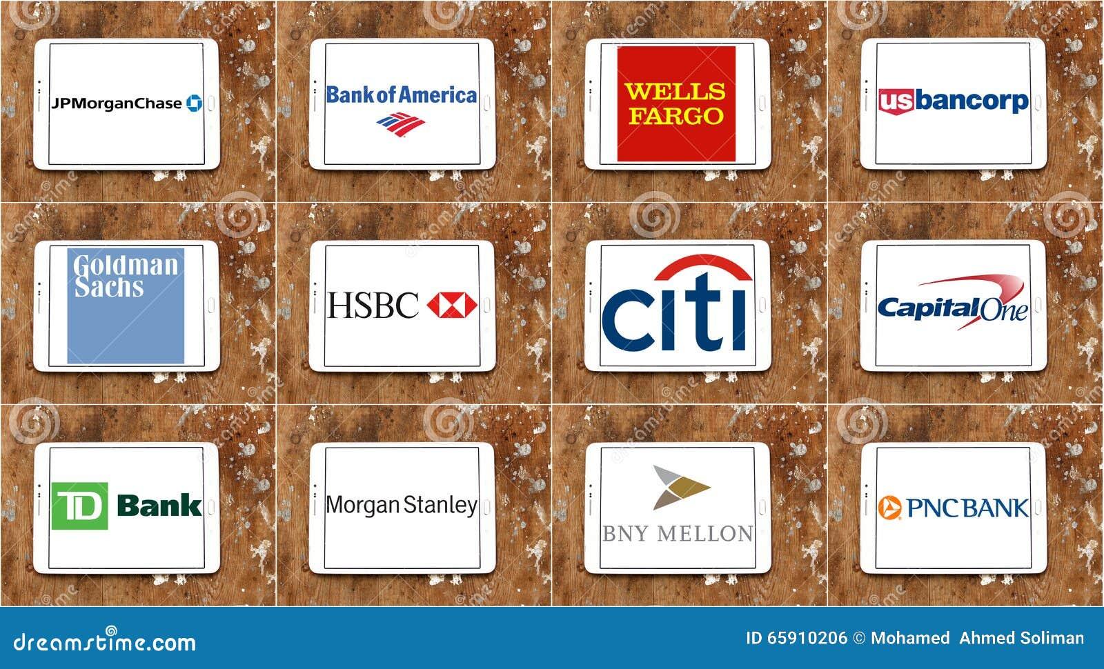 Usa Banks Brands And Logos Editorial Photo. Image Of