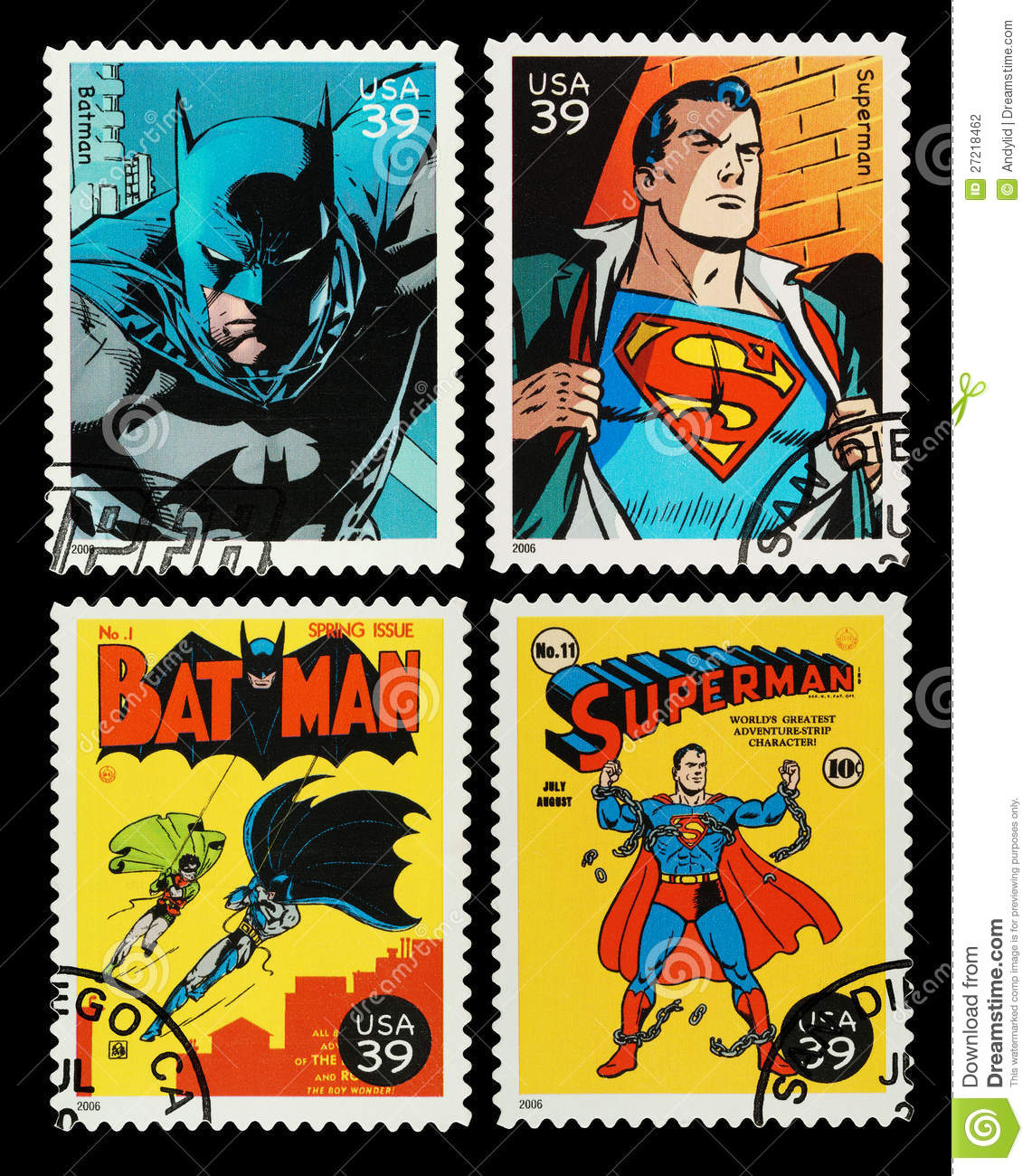 Editorial Photography: USA Batman and Superman Superheroes Postage ...