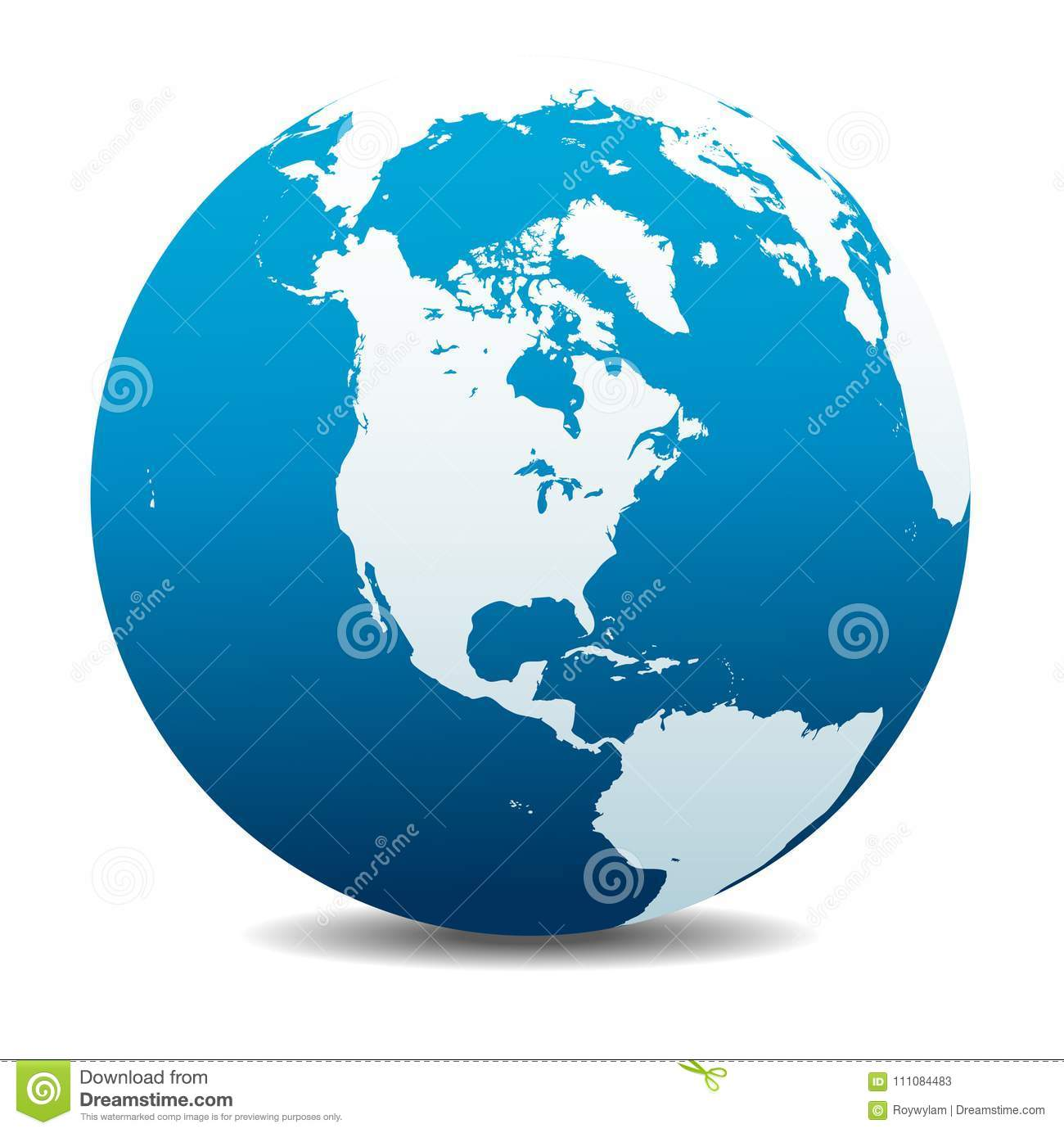 Usa Canada North South And Central America Global World Icon