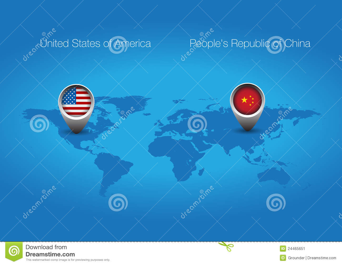 USA China Flag Button Stock Image Image - China map in us flag