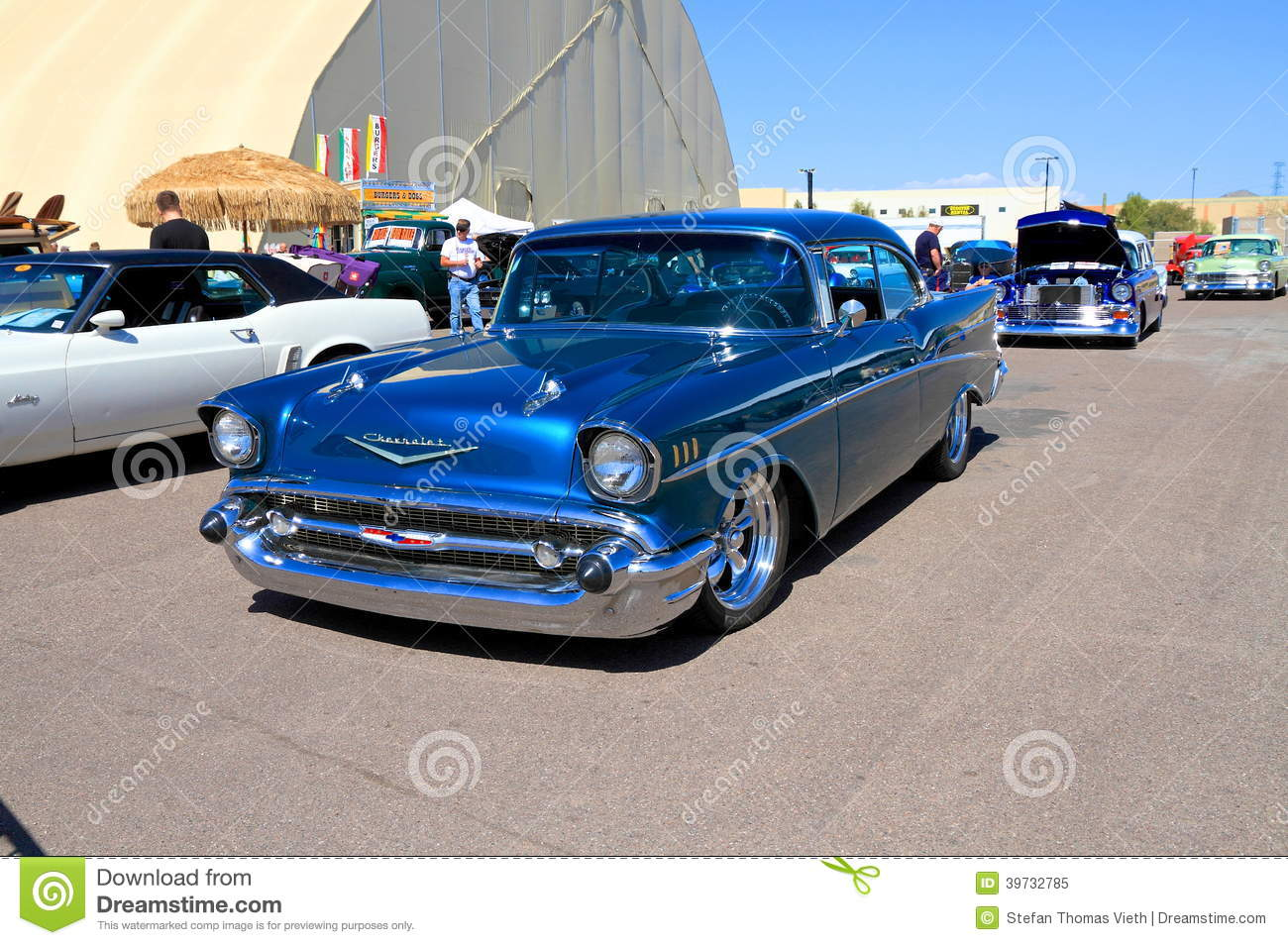 Usa Classic Car Chevrolet Bel Air 1957 Editorial