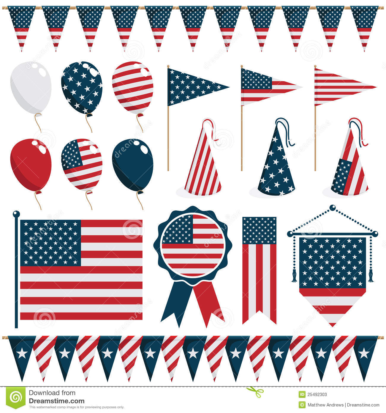 usa decorations stock photos image 25492303 American Flag Waving Clip Art Free Free Patriotic Clip Art