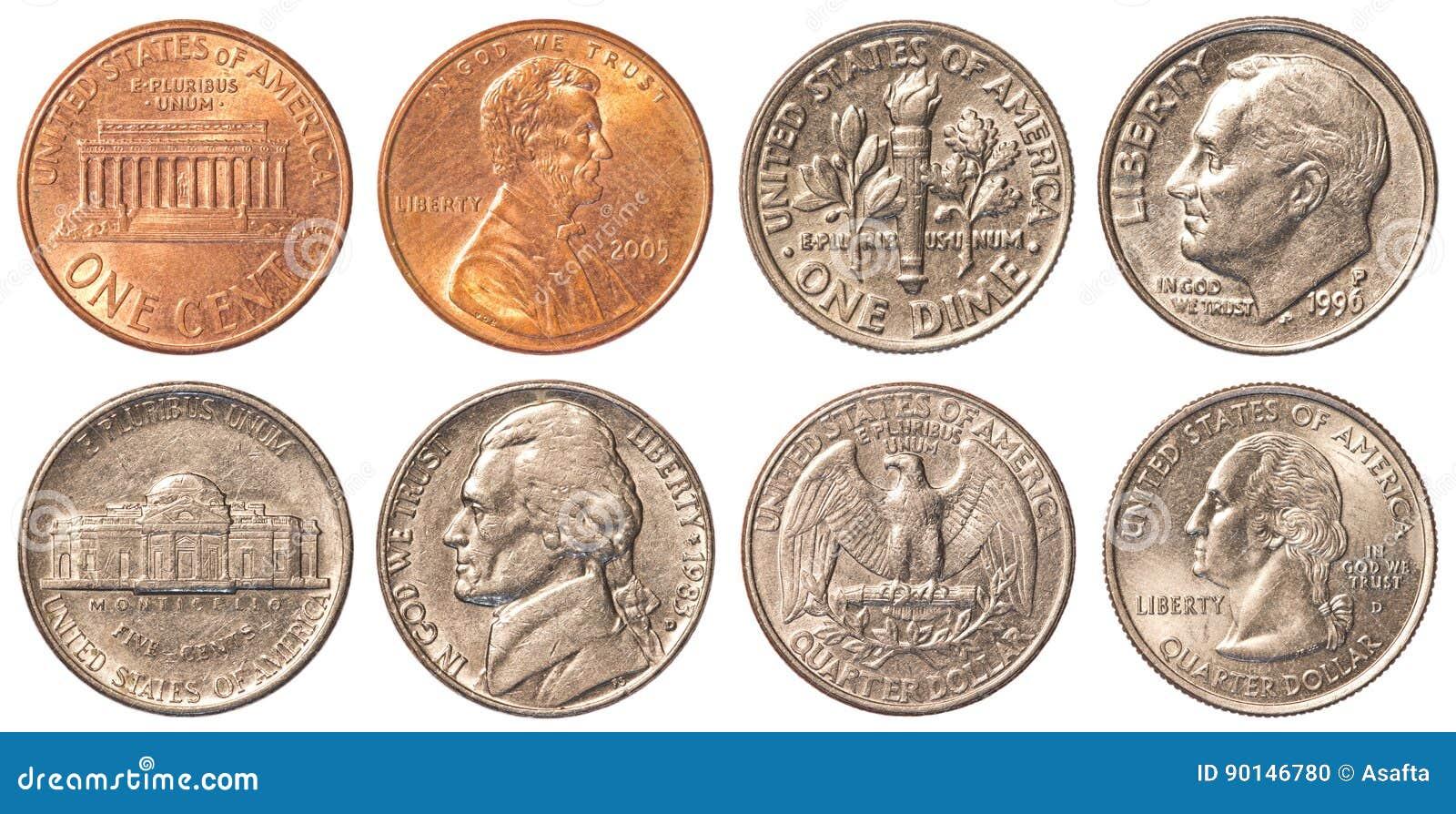 Usa Die Münzen Verteilen Stockfoto Bild Von Kopf Hintergrund