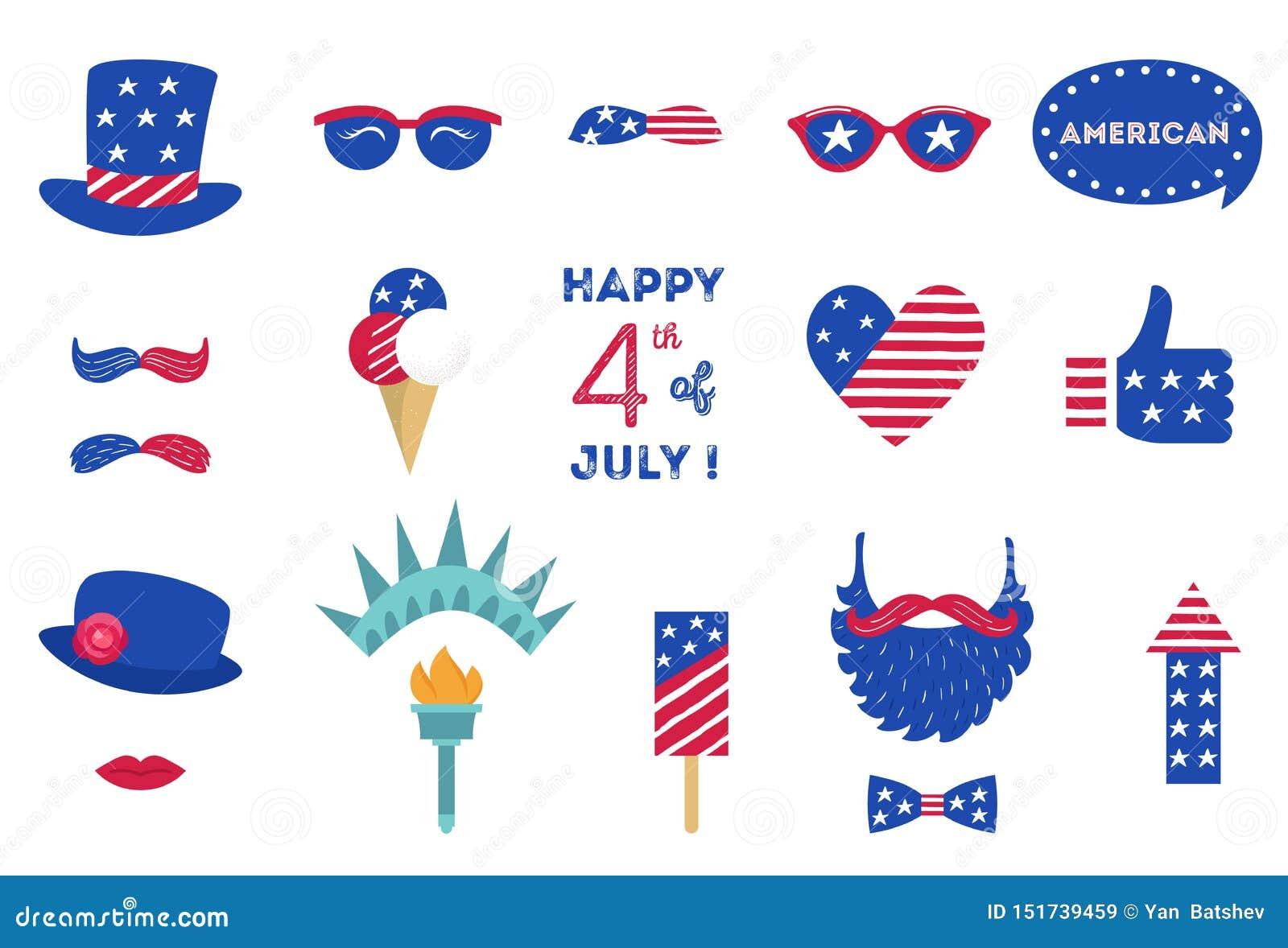USA dnia niepodległości 4 th Lipiec fotografii budka przyjęcia wsparcia Amerykańscy symbole