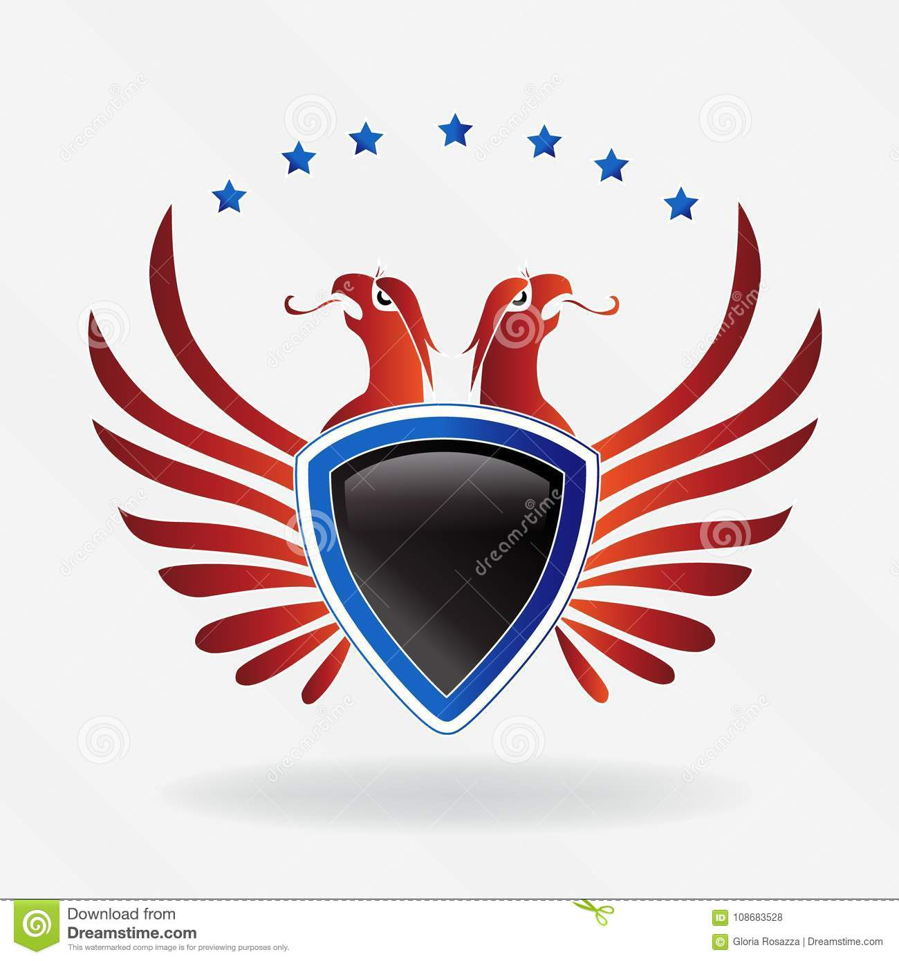 Usa eagle shield symbol logo vector illustration stock vector usa eagle shield symbol logo vector illustration biocorpaavc Gallery