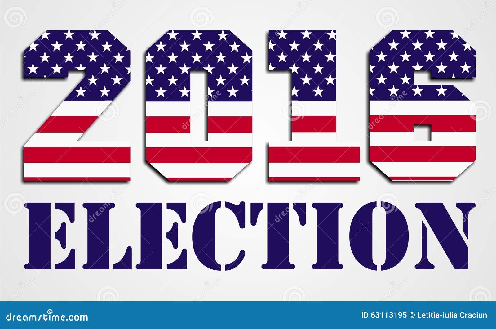 usa election 2016 stock illustration image 63113195. Black Bedroom Furniture Sets. Home Design Ideas