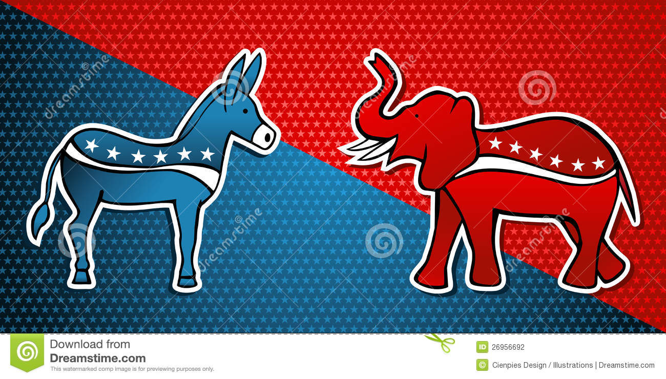 USA Elections Democratic Vs Republican Party Editorial Photography ...