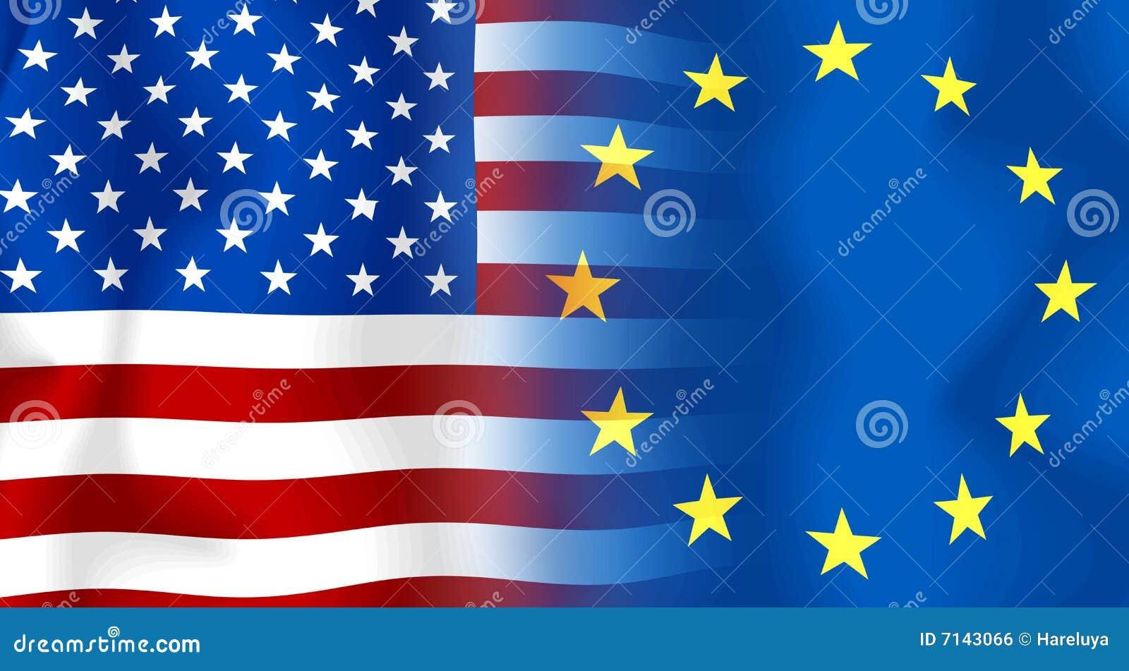 usaeu flag stock illustration image of color american