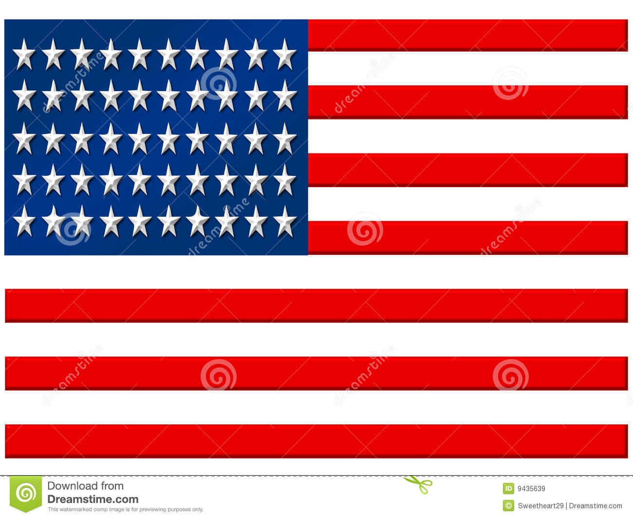 USA Flag Royalty Free Stock Images - Image: 9435639