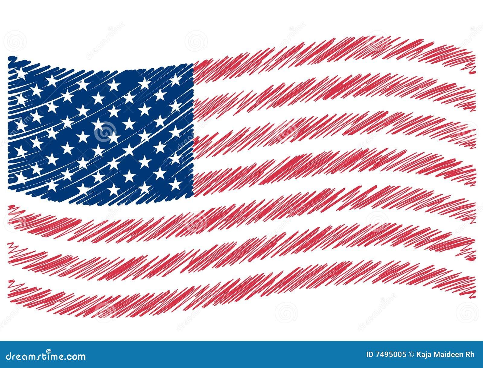 USA Flag Art Royalty Free Stock Photo Image 7495005