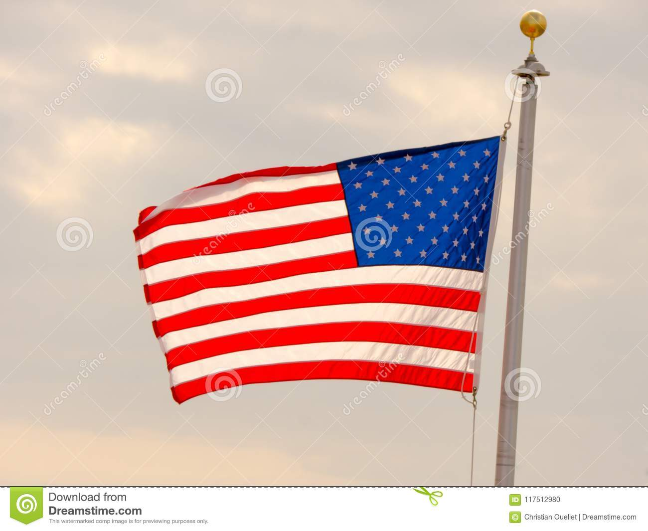 Usa Flag Background American Symbol Of Fourth Of July Independence