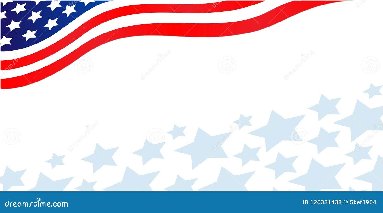 usa flag corner banner with stars stock vector illustration of
