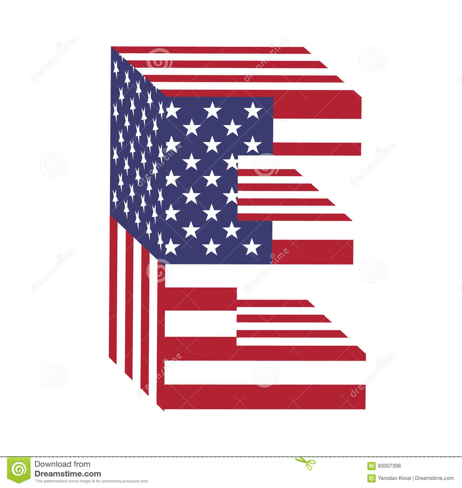 USA Flag 3d Latin Alphabet Letter R. Textured Font Stock ...