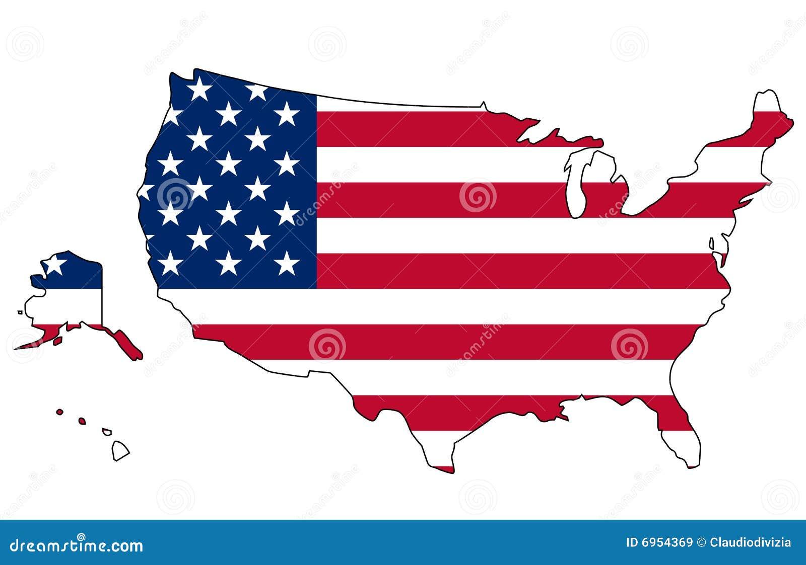 USA Flag And Map Royalty Free Stock Images Image - Map usa image