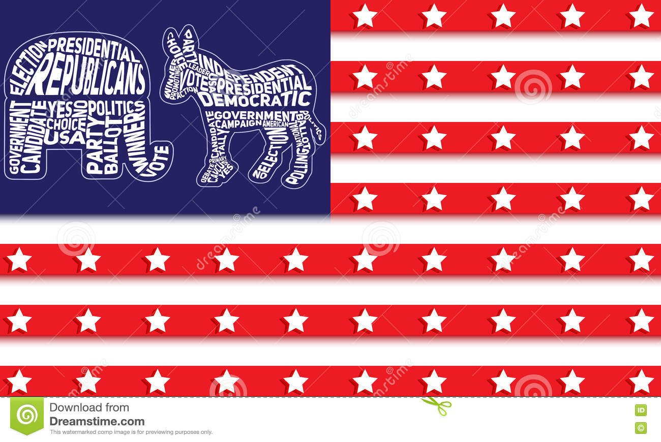 Usa flag with republican party symbol of elephant and democratic usa flag with republican party symbol of elephant and democratic party symbol of donkey buycottarizona