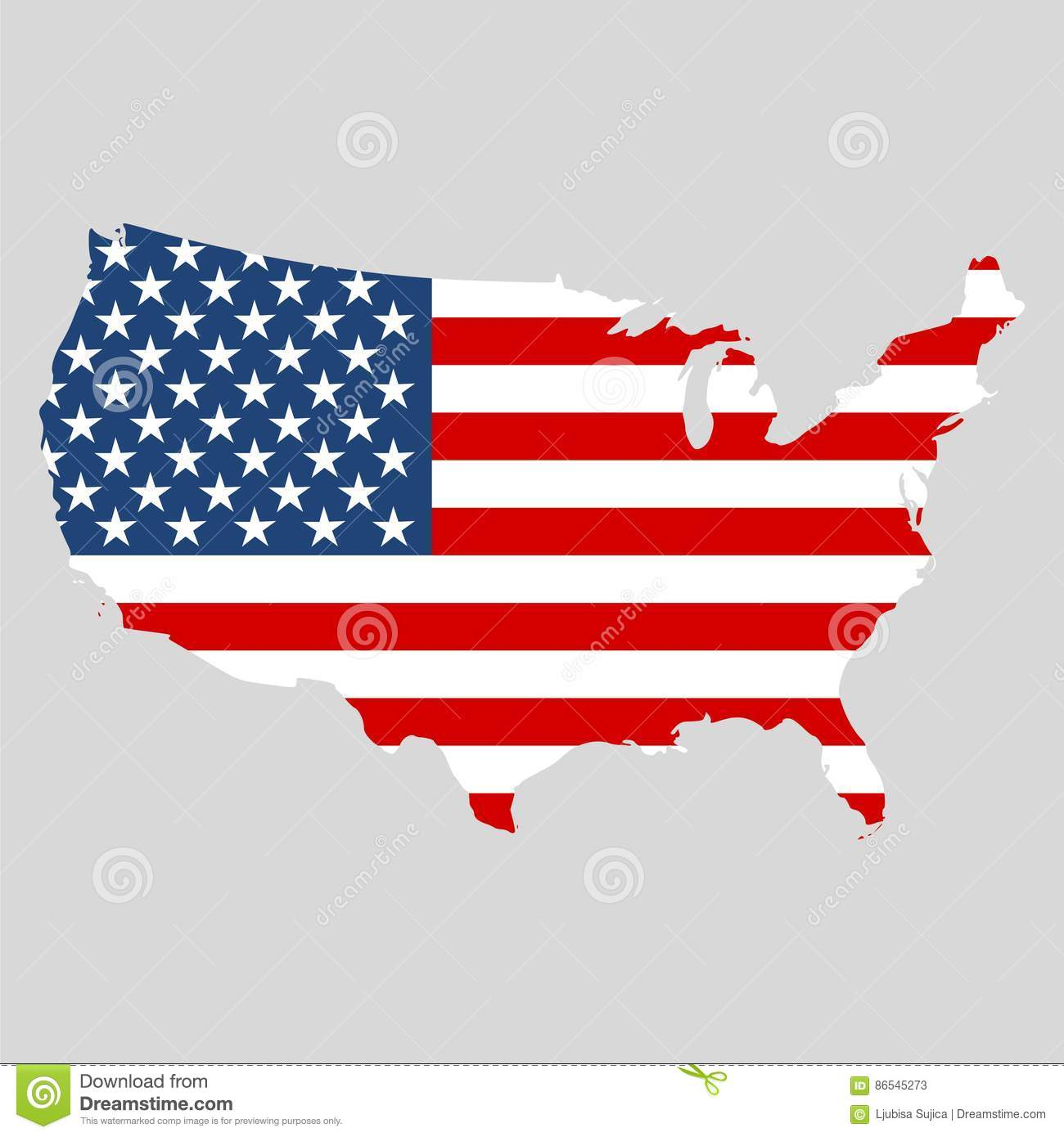 USA Flag, Shape Of American Map Icon Stock Vector - Illustration of ...
