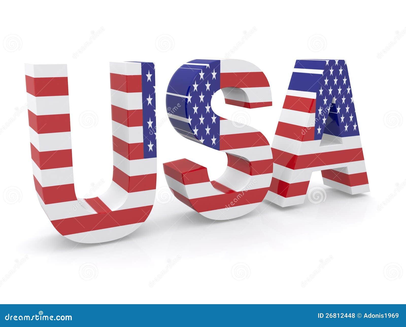 american flag word art