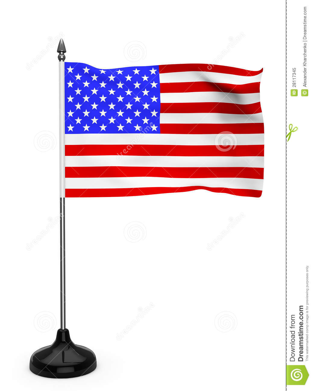 Usa Flag With Stand Royalty Free Stock Photo Image 28117345