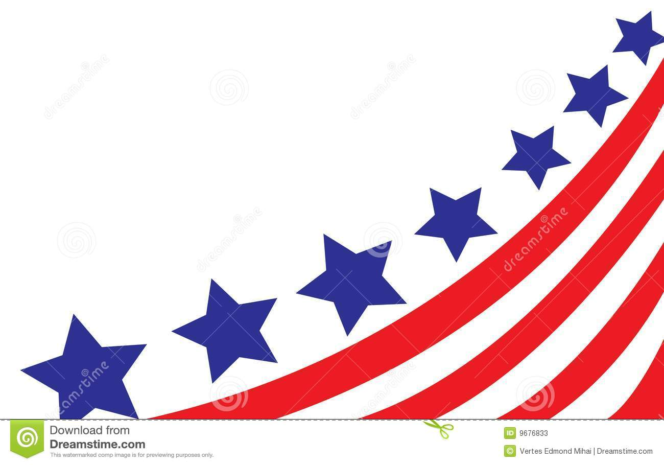 USA Flag In Style Vector Stock Photos - Image: 9676833