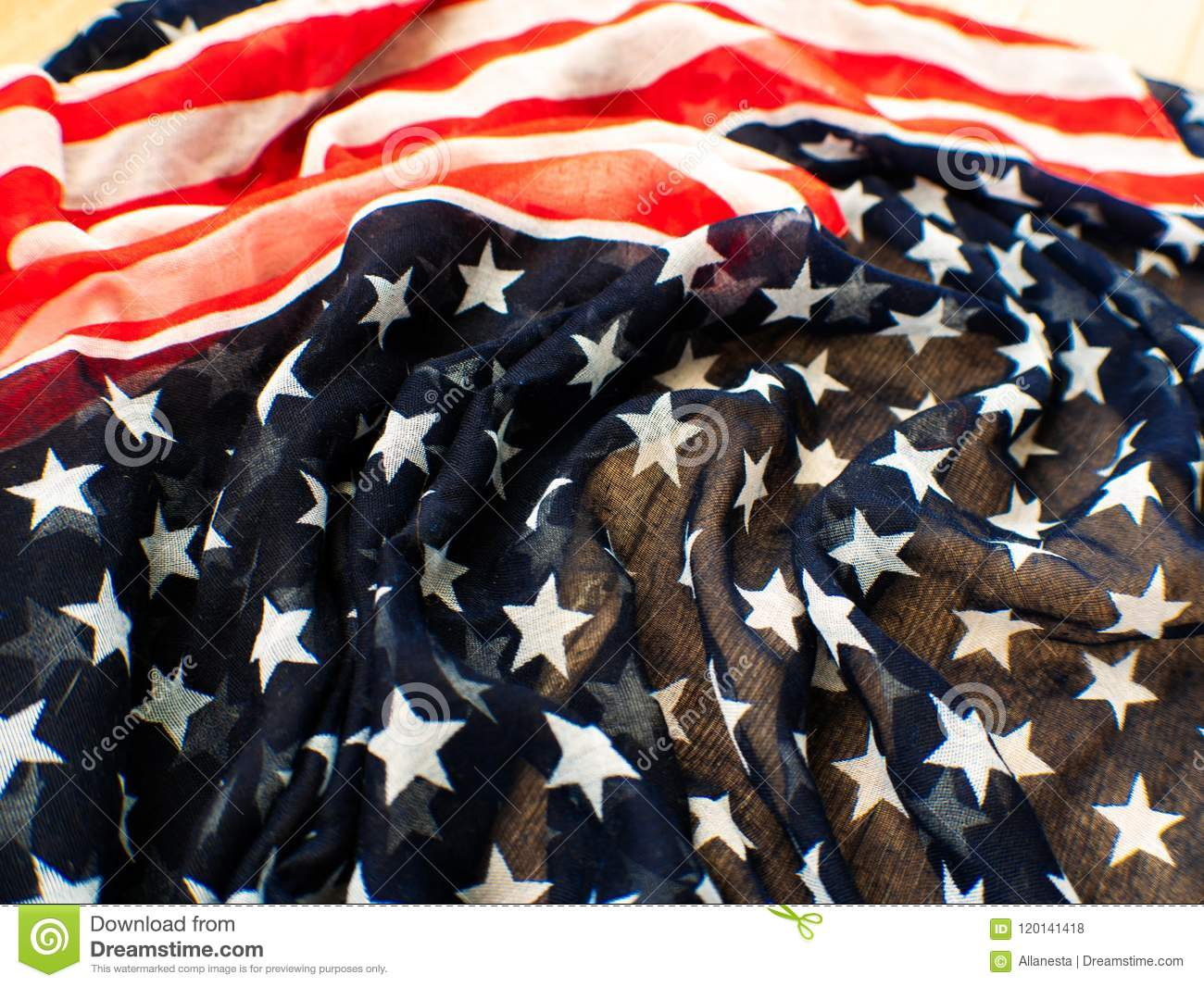 USA flag for the 4th of July on white background. d for 4th of July Independense Day. Fourth of July to celebrate and