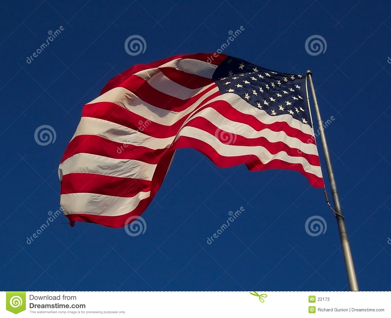 USA Flag - Windy Day
