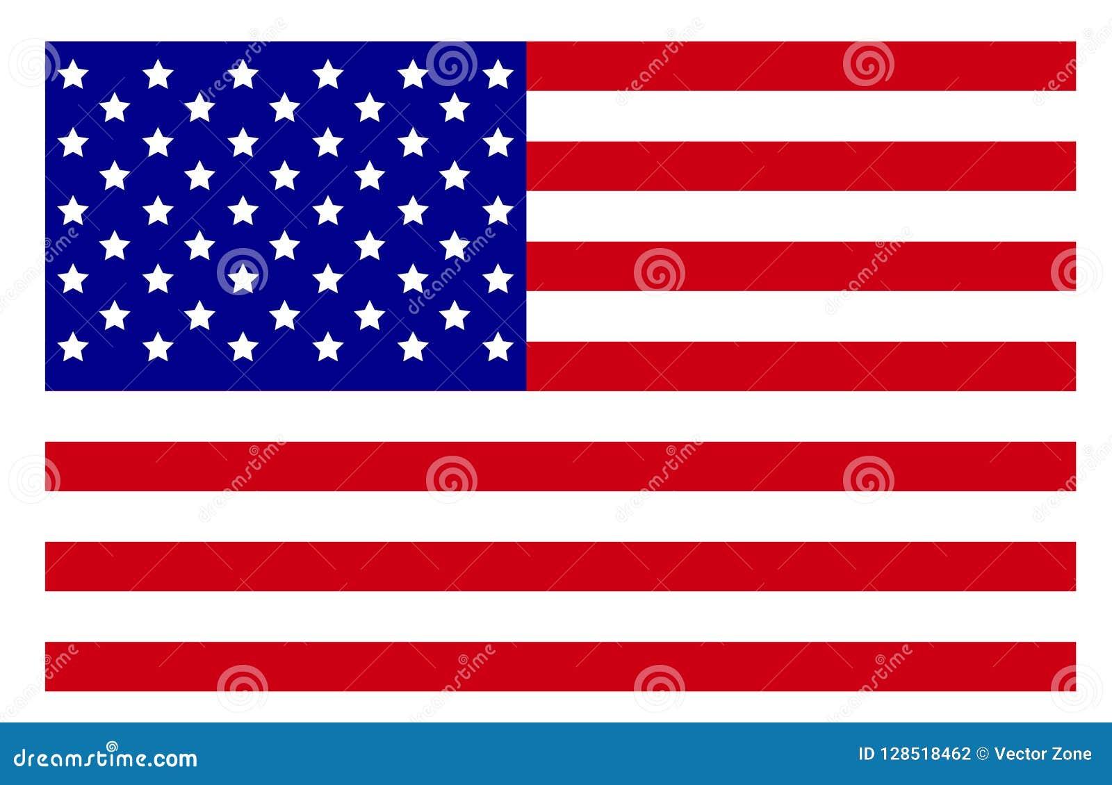 High Resolution Flag: USA Flag High Resolution Stock Vector. Illustration Of