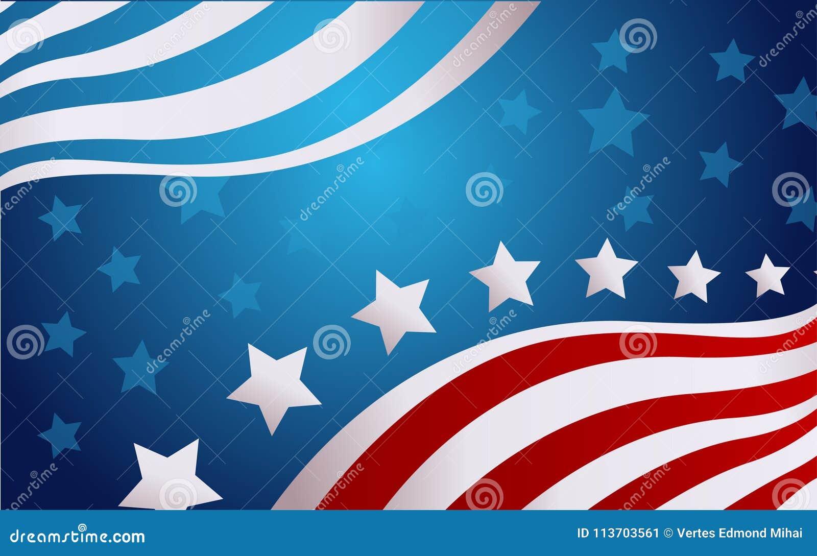 USA flaga w stylowym wektorze