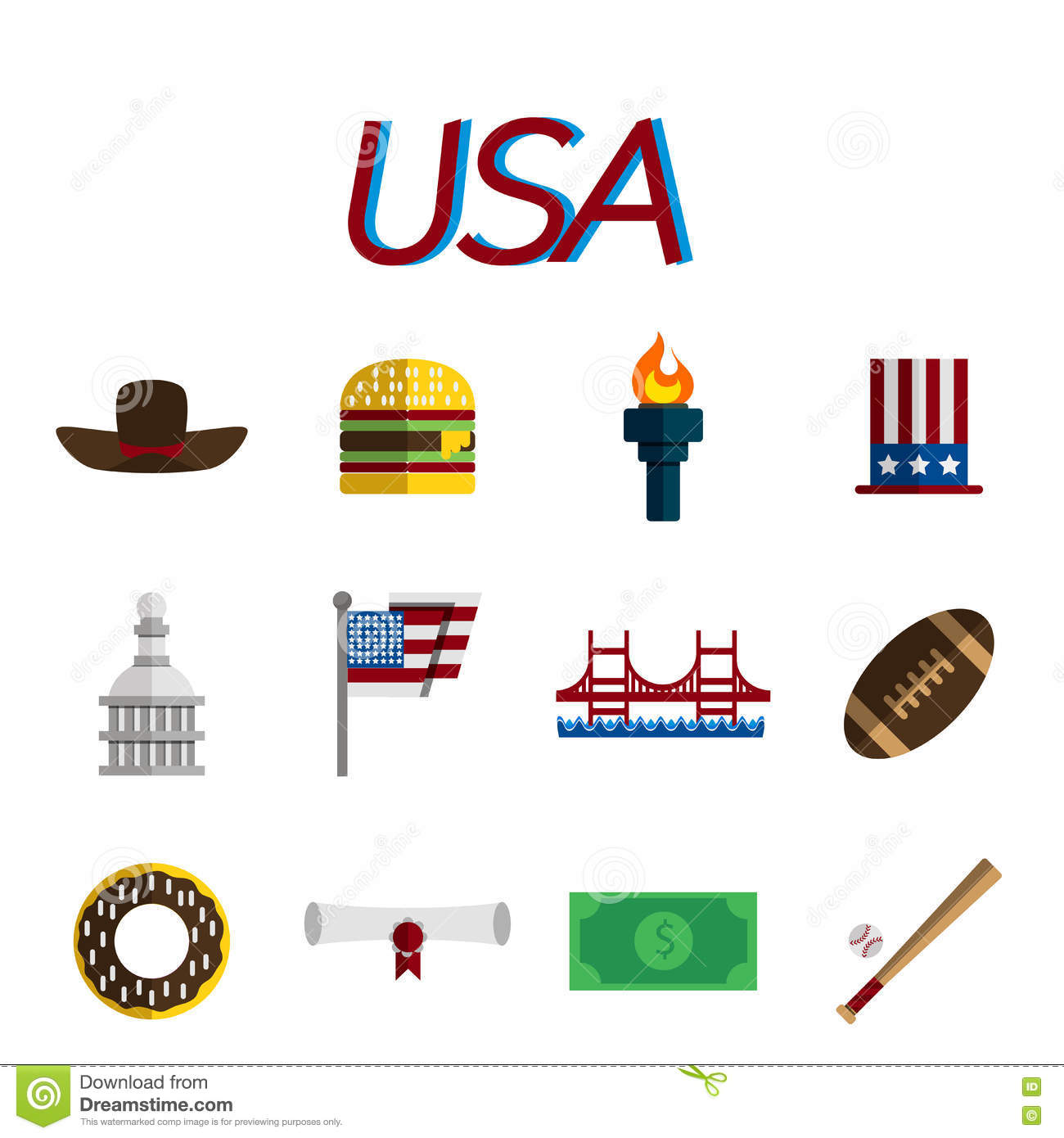 usa-flat-icon-set-vector-design-travel-i