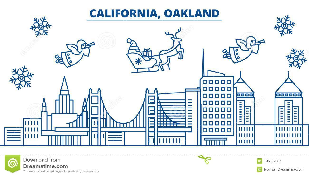 download usa florida oakland winter city skyline merry christmas and happy new year