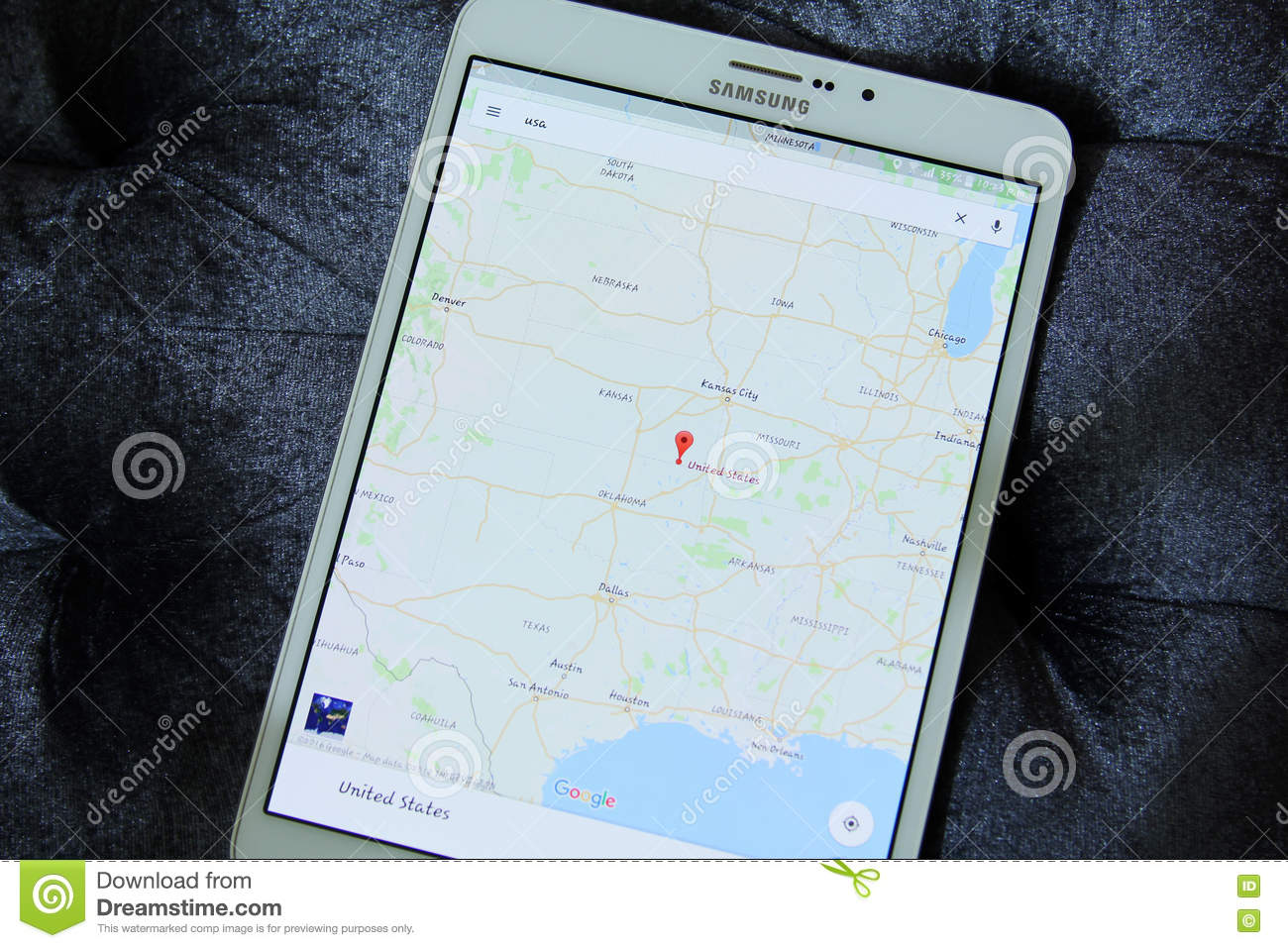Usa on google maps app editorial photography. Image of ...