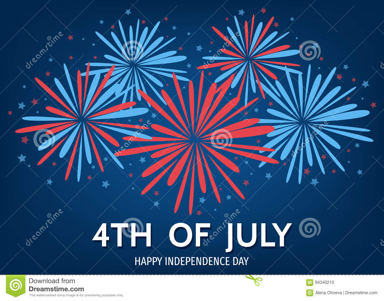 Usa happy independence day background with fireworks for Th background color