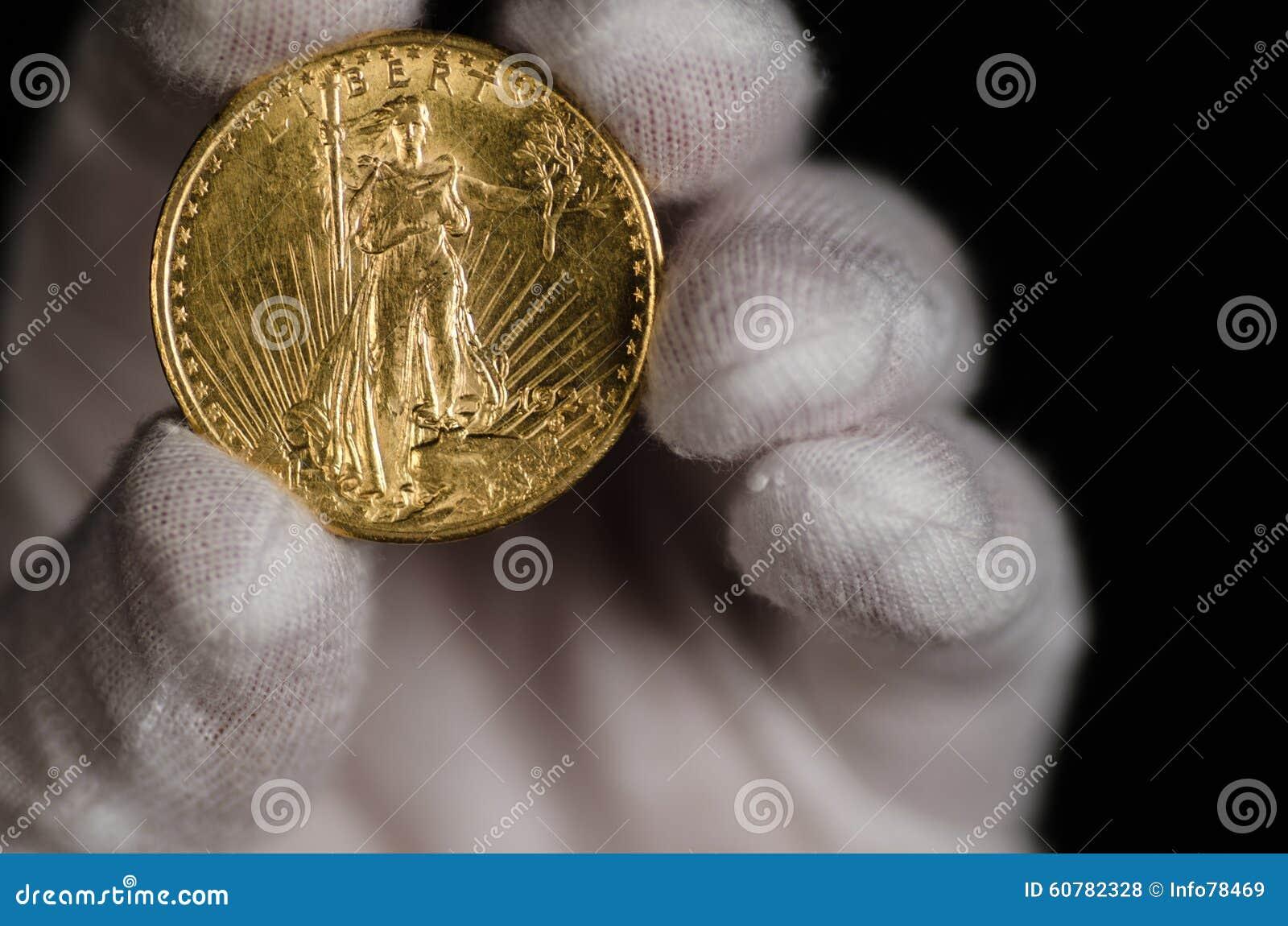 USA-helgon Gaudens Double Eagle Gold Coin