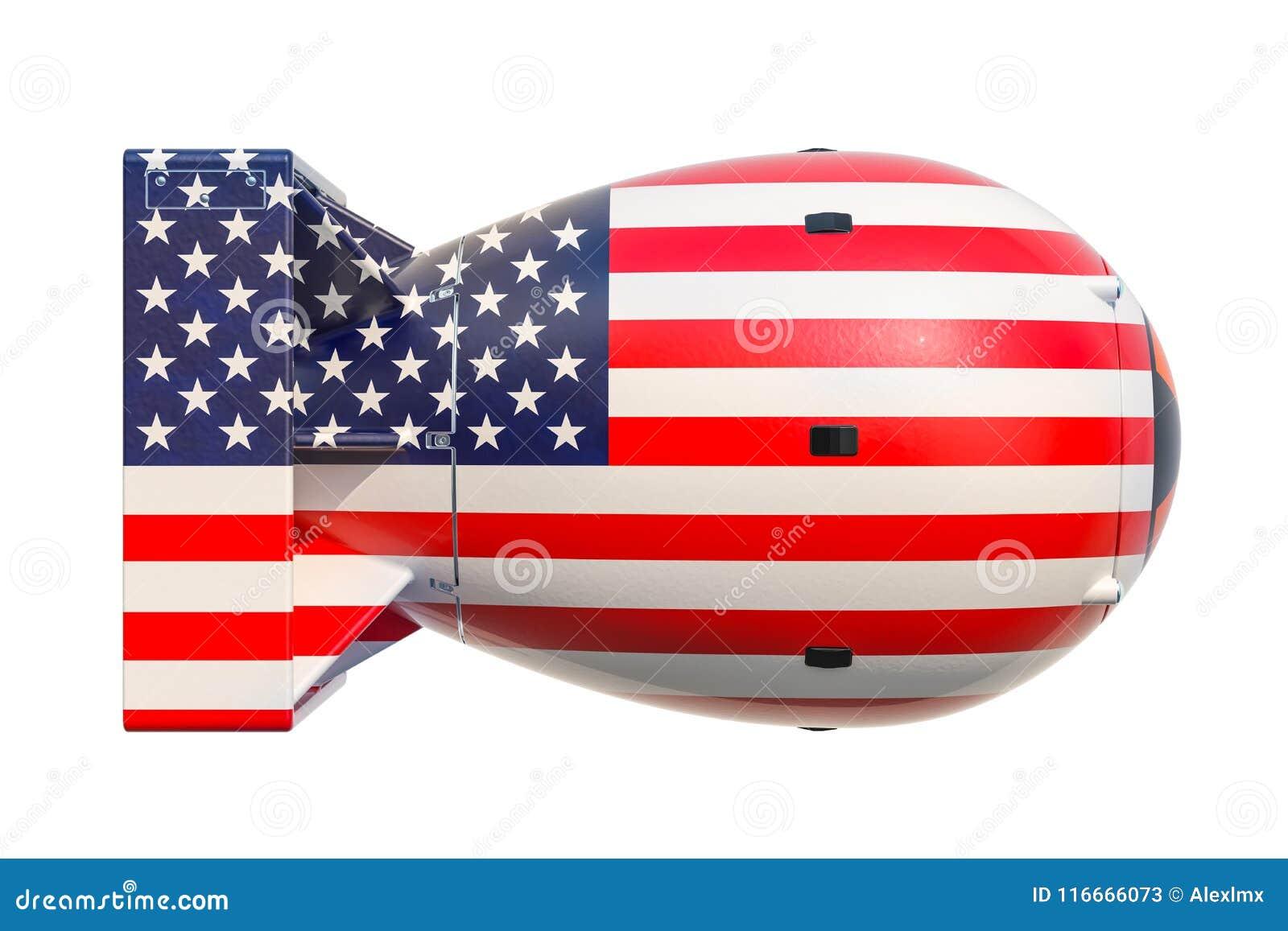 USA jądrowej broni pojęcie, 3D rendering