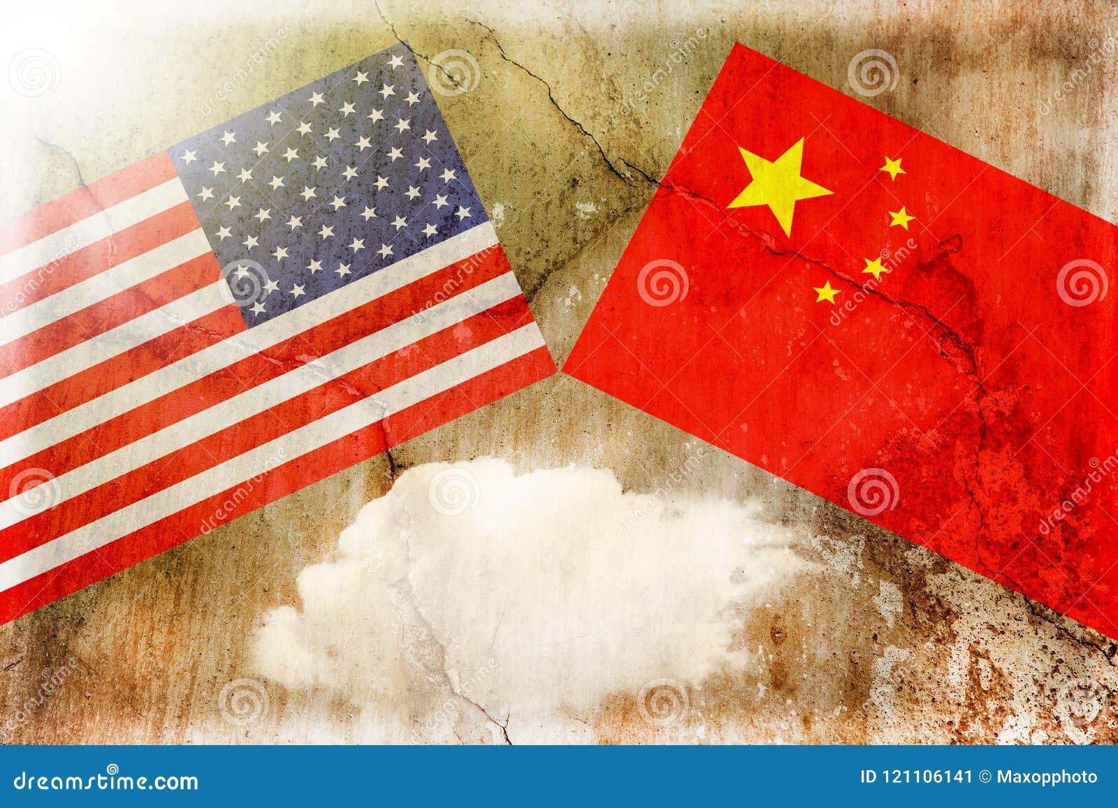USA kontra Kina Begrepp för handelkrig