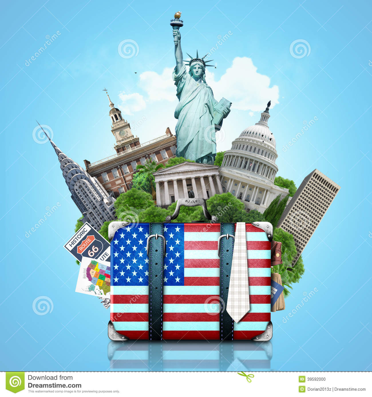 usa  landmarks usa  travel stock photo image 39592000 suitcase clipart black and white suitcase clipart open