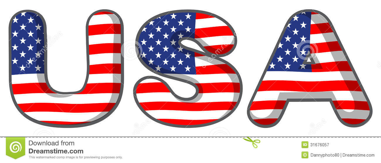 The USA Letters Royalty Free Stock Photography - Image: 31676057