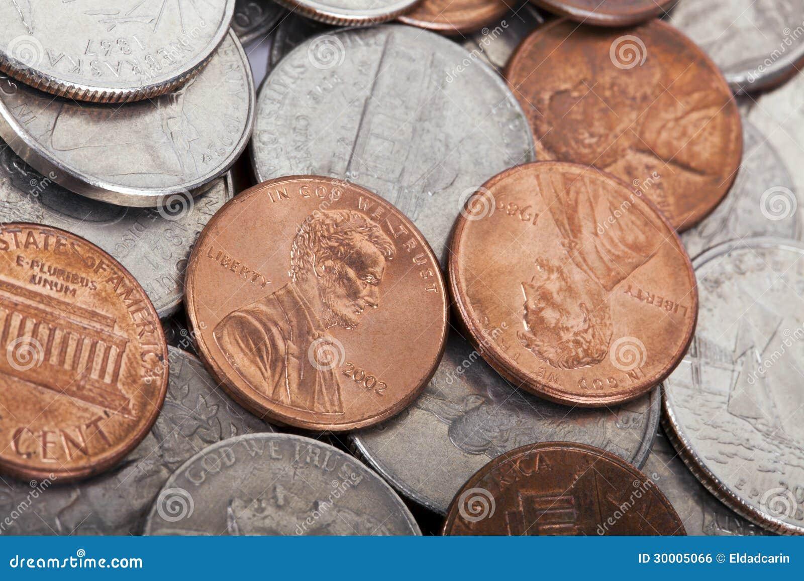 USA-Münzen-Stapel-Hintergrund