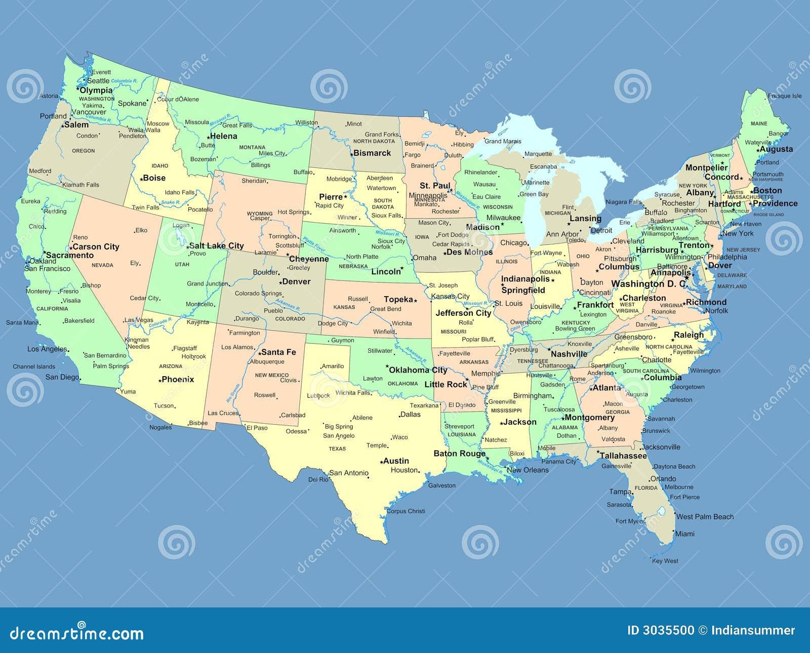 USA map stock illustration Illustration of globe earth 3035500