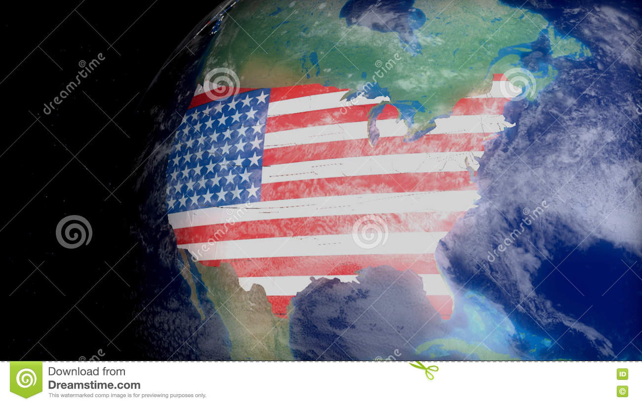 Geography Map Space Usa