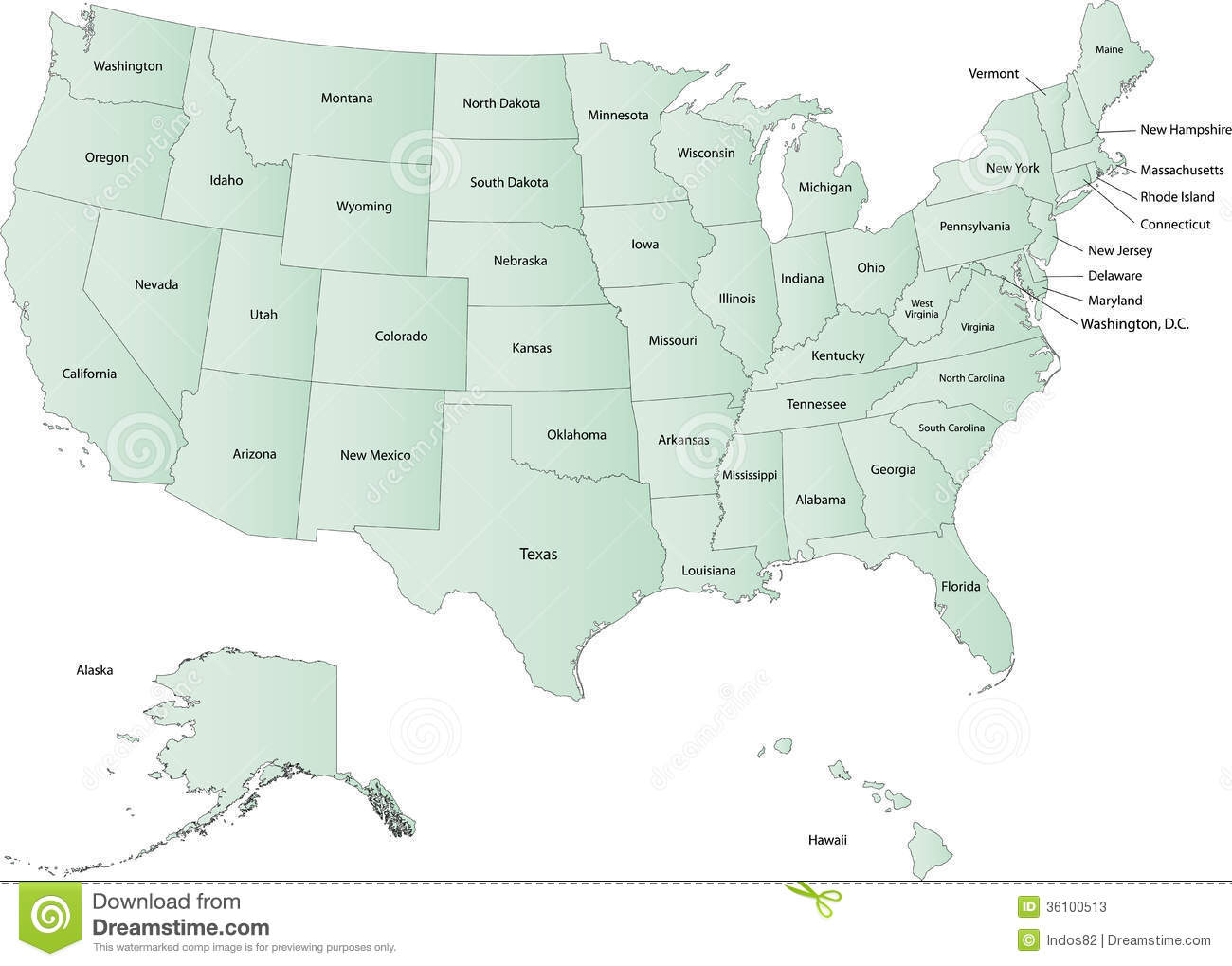 Usa Map Stock Illustration Illustration Of Image Georgia 36100513