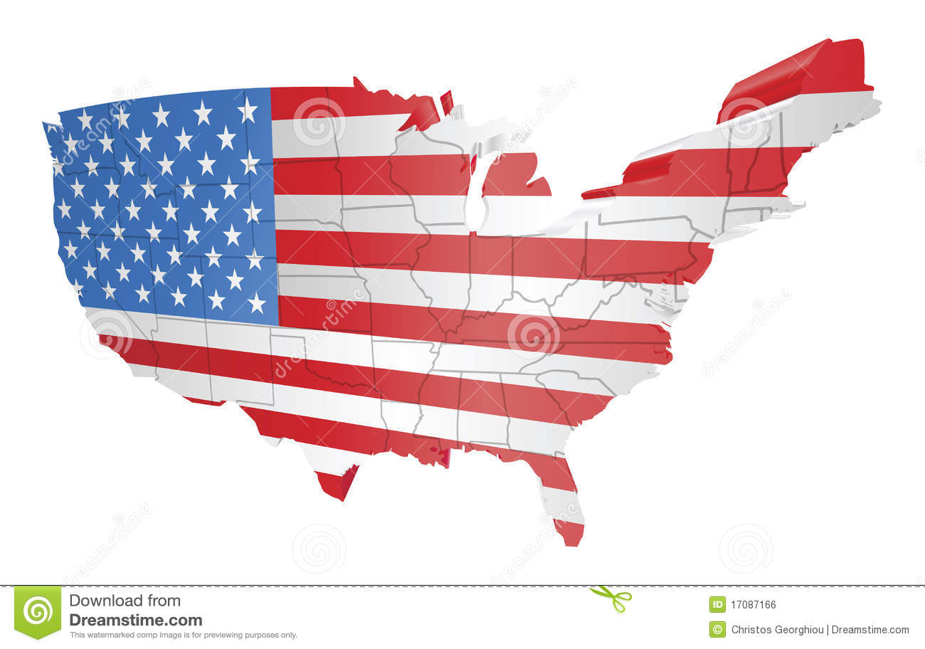 USA map and flag stock vector. Illustration of congress - 17087166